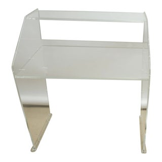 1960s Mid-Century Modern Clear Lucite Secretary Desk For Sale
