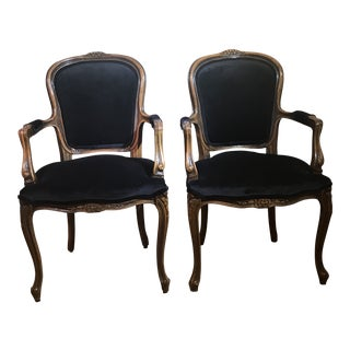Early 20th Century Antique French Style Chairs - A Pair For Sale