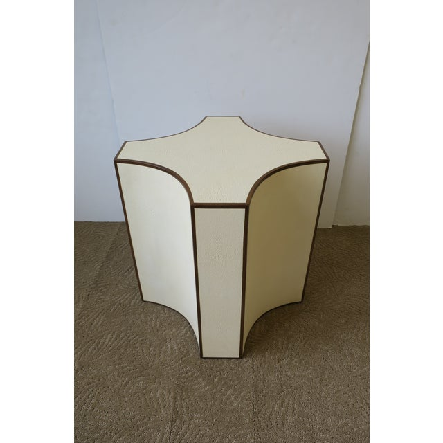 2010s Contemporary Shagreen Esque Side Table For Sale - Image 5 of 10