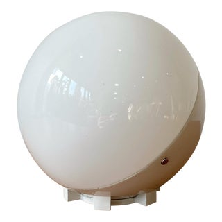 Petite Mid-Century Glass Globe Lamp, Spain For Sale