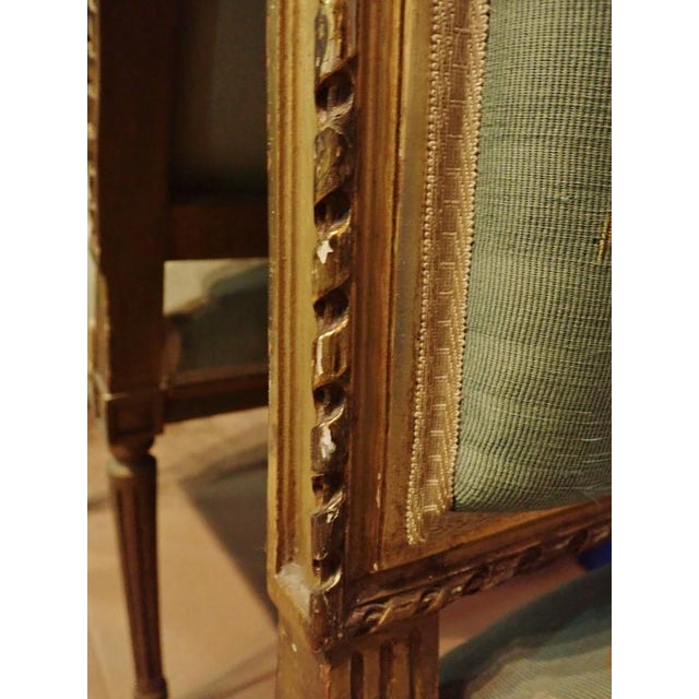 Mid 19th Century Louis XVI Petit Point Embroidered Chairs- A Pair For Sale - Image 10 of 11