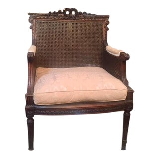 19th C. French Carved Walnut Chair For Sale