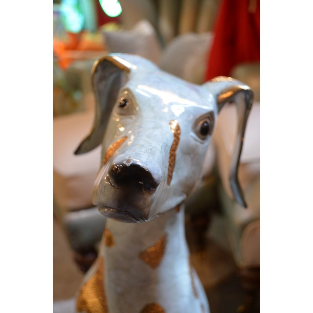 Life Size Hand Made Glazed Old Lost Wax Bronze Dalmation Statue For Sale In Chicago - Image 6 of 8