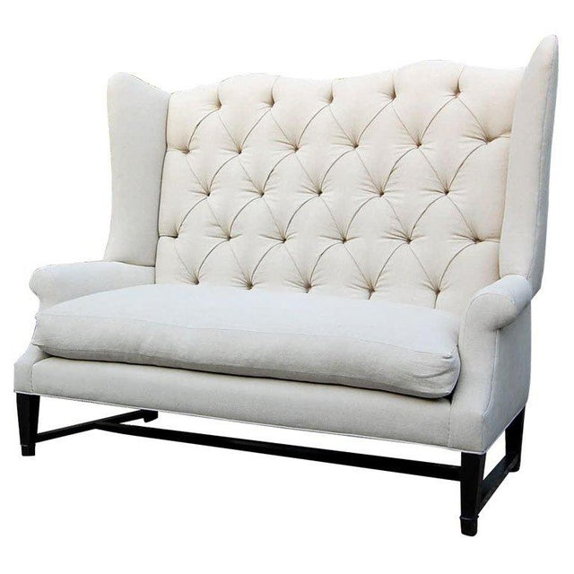 Wing Back Sofa For Sale - Image 9 of 9
