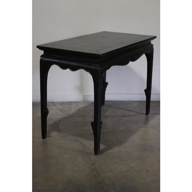 17th Century Chinese Black Crakel Lacquered Elm Table For Sale - Image 5 of 7