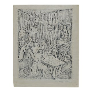 Manuel Boccini (1890–1962) Original Pen and Ink C.1922. For Sale