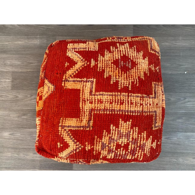 1980s Vintage Moroccan Pouf Cover For Sale - Image 6 of 13