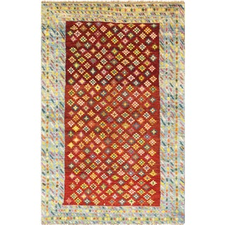 Vintage Turkish Anatolian Wool Area Rug - 4' X 6' For Sale