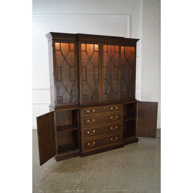 Henkel Harris Mahogany Chippendale Style London Breakfront For Sale - Image 10 of 10