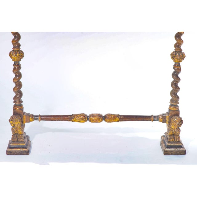 19th C. Italian Polychromed Fireplace Surround For Sale - Image 4 of 6