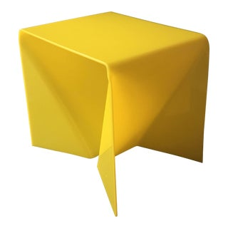 Neal Small Yellow Lucite Origami Table