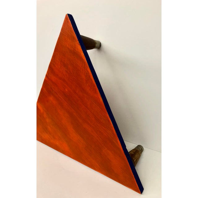 Reclaimed Wood Triangle Low Table For Sale - Image 11 of 13