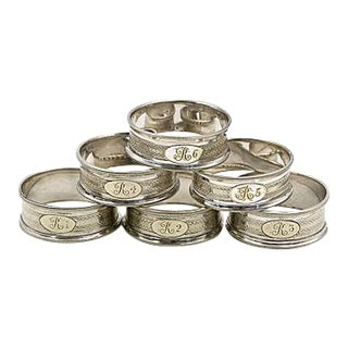 English Silver-Plate Napkin Rings - Set of 6
