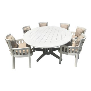 Seal Cove White Outdoor Dining Set