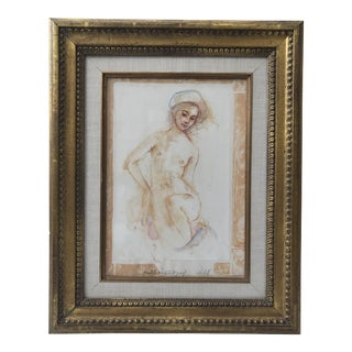 Single Nude Sketch Artist's Proof Signed Edna Hibel For Sale