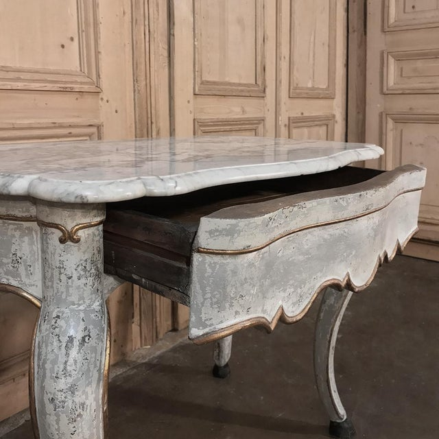 19th Century Swedish Painted Marble Top Console For Sale - Image 10 of 13