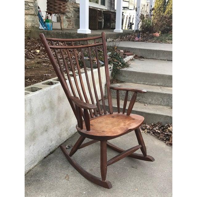 Vintage Craftsmanship Hunt Country Birdcage Rocking Chair Rocker For Sale - Image 10 of 13
