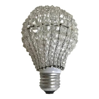 Early 20th Century Antique Bavarian Crystal Light Bulb Cover For Sale