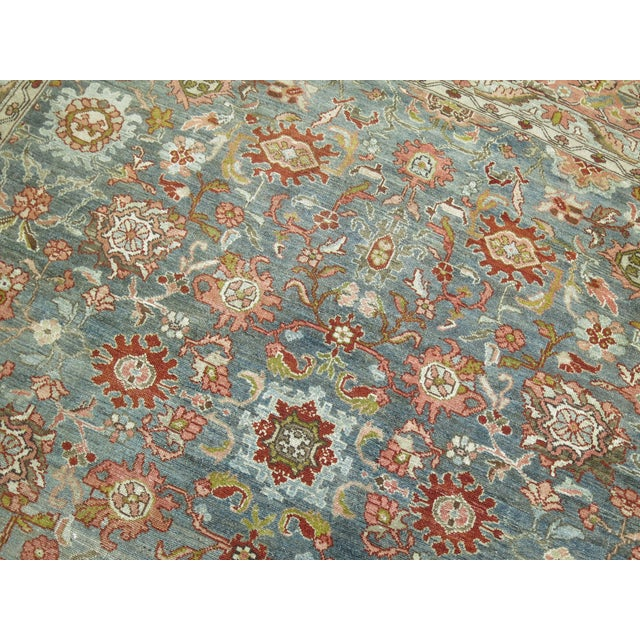 Textile Antique Malayer Rug, 9' X 11'8'' For Sale - Image 7 of 11