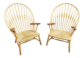 Image of Tan Peacock Chairs