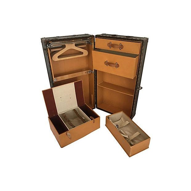 Louis Vuitton Wardrobe Trunk, Circa 1920s For Sale - Image 9 of 10