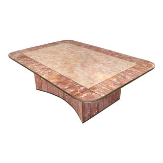 Pink Tessellated Stone Coffee Table by Casa Bique For Sale