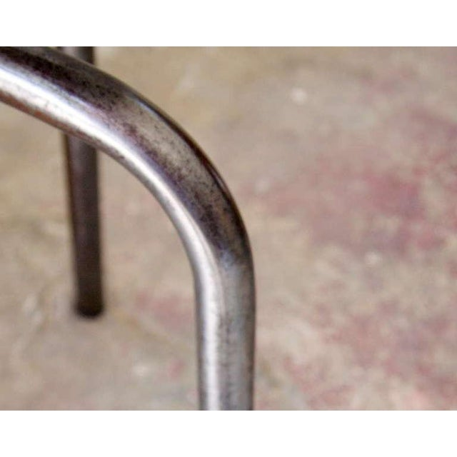 French Industrial Wood & Metal Chair - Image 2 of 9