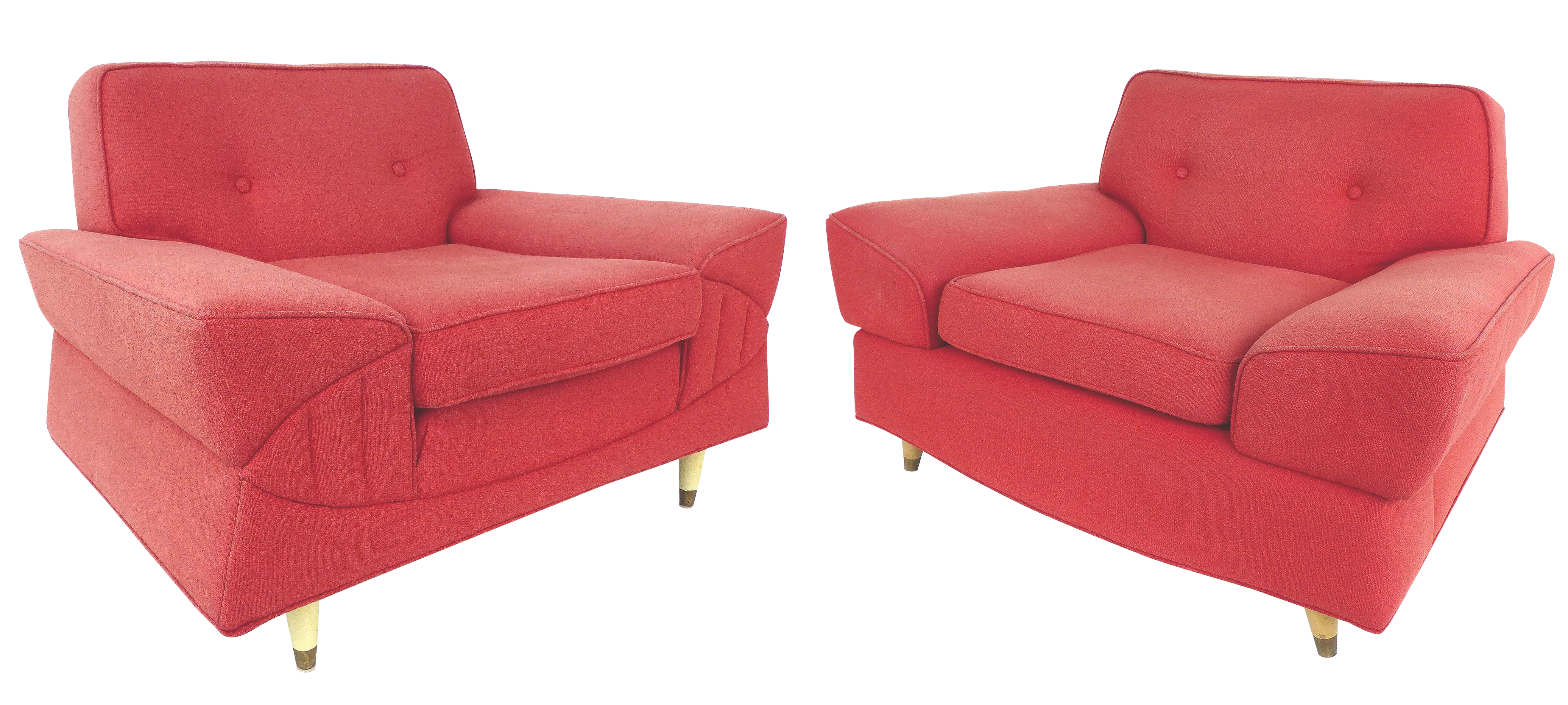 Gentil His U0026 Hers Mid Century Modern Club Chairs From Miami Beach A Pair For