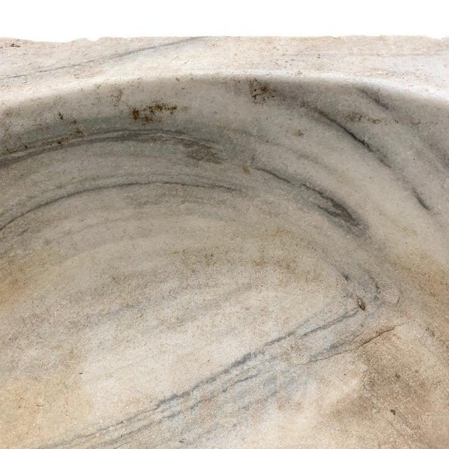 18th Century Turkish Hammam Marble Sink For Sale - Image 10 of 12