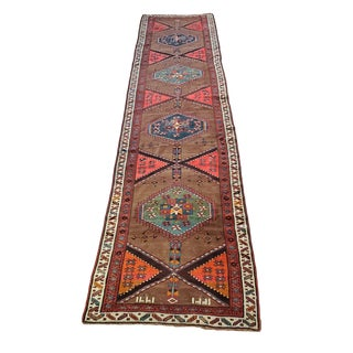 "1920's Vintage Kurd Runner - 3'6"" X 13'5"" For Sale"