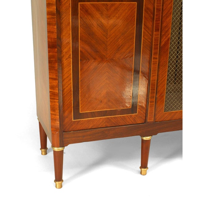 French Louis XVI Style High Cabinet For Sale - Image 4 of 5