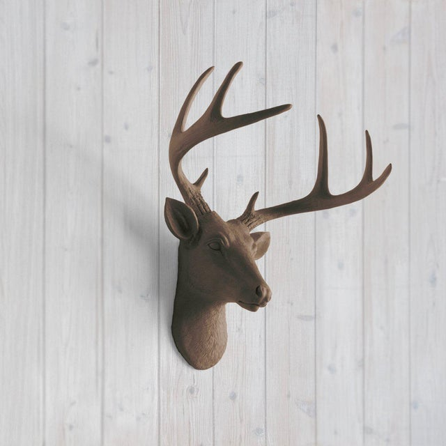 Wall Charmers Bronze Faux Taxidermy Mini Deer Head Mount - Image 2 of 5