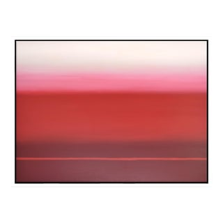 Abstract Red Ombé - Framed Print 30x40 For Sale