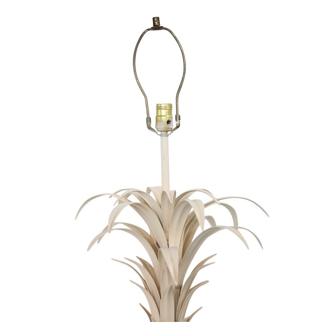 Large Tole Table Lamp with Rope Shade - Image 4 of 10