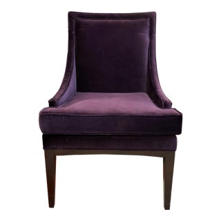 Modern Purple Velvet Upholstered Mya Chair For Sale