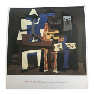 1990s Pablo Picasso Three Musicians Poster For Sale