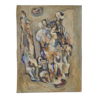 Mid Century Abstract Painting by Lorraine Crawford c.1950