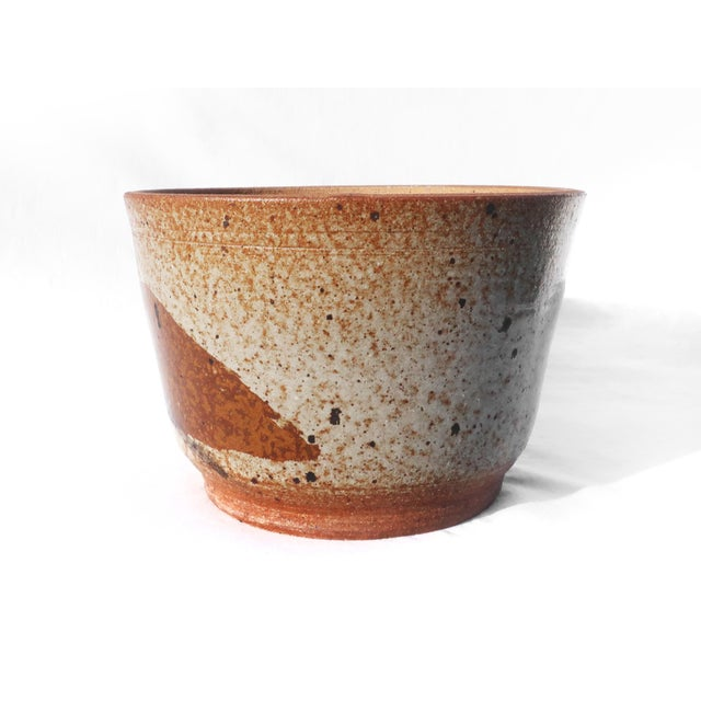 Contemporary Vintage Handmade Earthenware Planter For Sale - Image 3 of 6