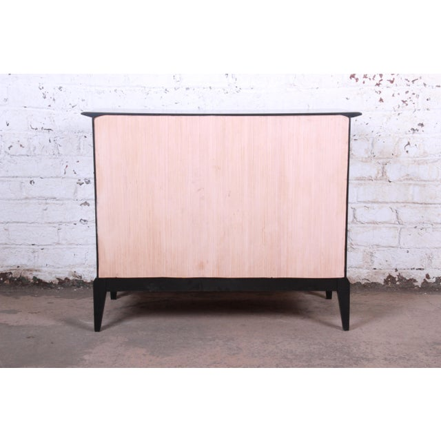 Paul McCobb Style Ebonized Mid-Century Modern Compact Credenza by Heywood Wakefield For Sale - Image 11 of 13