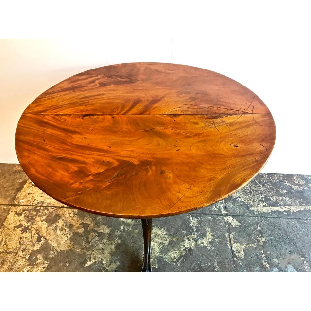 American 18th Century American Tilt Top Tea Table For Sale - Image 3 of 11
