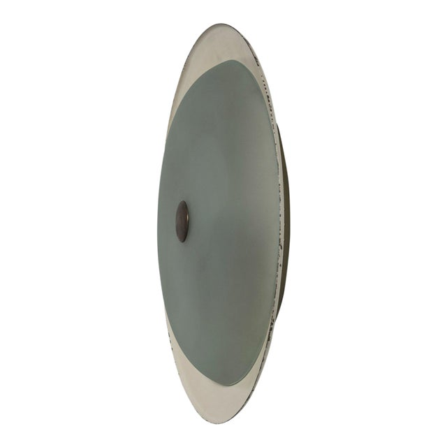 Rare Wall / Ceiling Lamp Attributed to Fontana Arte For Sale