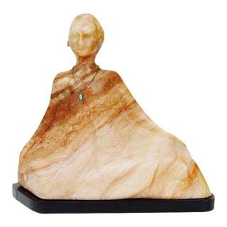 Vintage R. C. Gorman Style Marble Sculpture For Sale