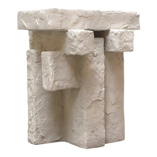 Sand Spackle Slab Side Table For Sale