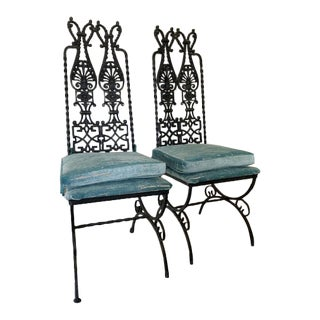 Vintage Modecraft Iron Chairs - a Pair For Sale