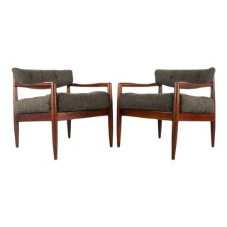 1960s Vintage Adrian Pearsall for Craft Associates #834-C Lounge Chairs- A Pair For Sale