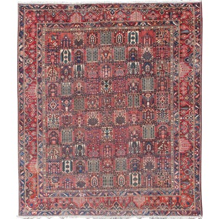 Persian Large Bakhtiari Rug With All-Over Garden Design in Jewel Colors For Sale