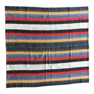 Flat Weave Persian Kilim Area Rug - 5′7″ × 6′2″