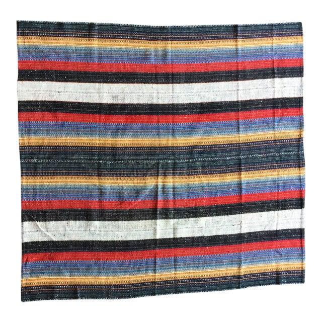 Flat Weave Persian Kilim Area Rug - 5′7″ × 6′2″ -- 109012 For Sale