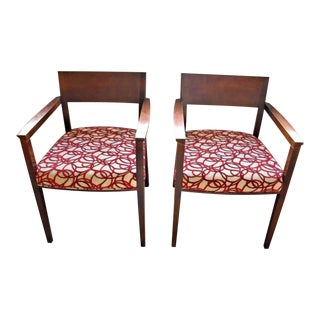 Mid Century Style Wood Arm Chairs by Dellarobbia - a Pair For Sale