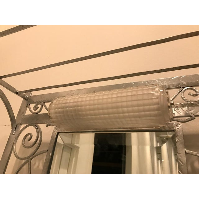 French Art Deco Hall Tree Coat Rack With Sabino Glass Light Sconce For Sale In New York - Image 6 of 13